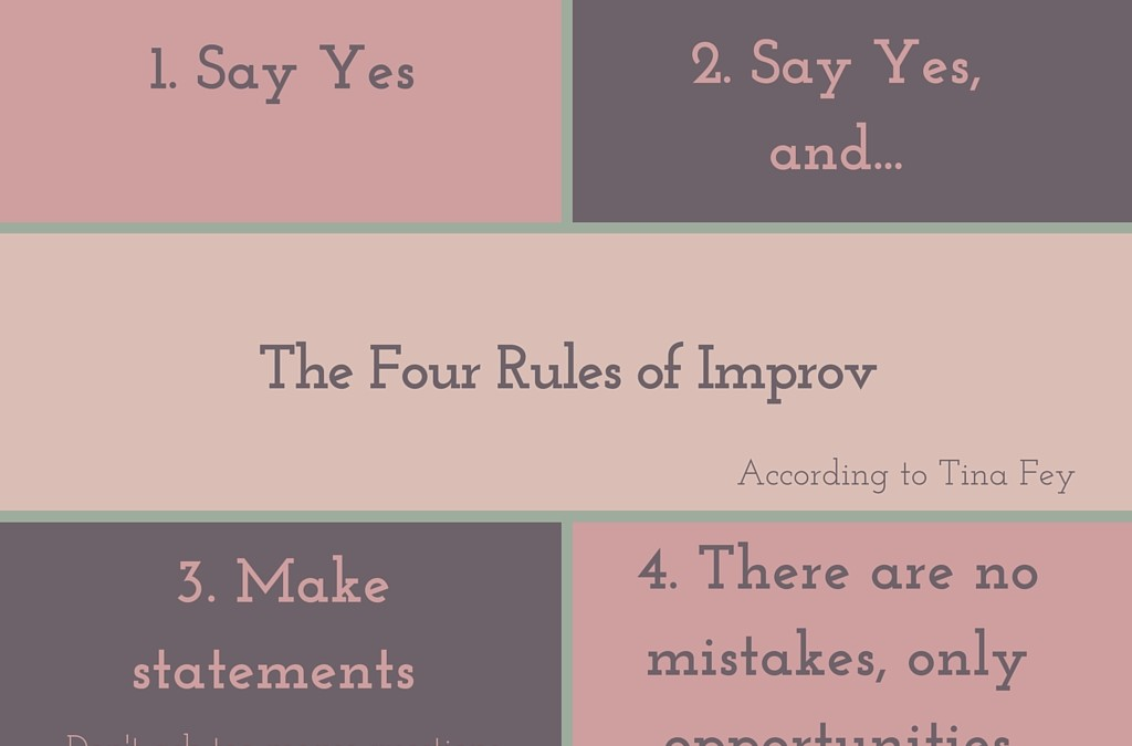 Tina Fey's Rules of Improv are Awesome Postpartum Advice